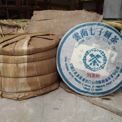 【90年代景迈古茶青饼】景迈千年万亩古茶园原料,昆明纯干仓存放