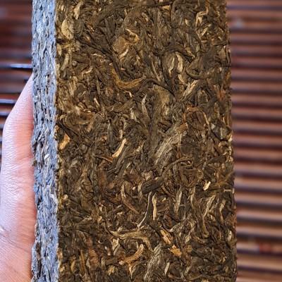 【2011年.普洱老生茶】250克/块 景迈古树茶原料