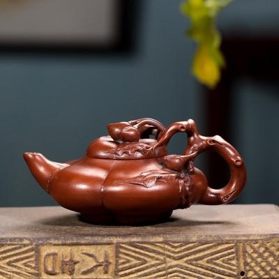 台湾回流紫砂壶文革紫砂老茶壶汪寅仙全手工老红泥真品上合桃茶具
