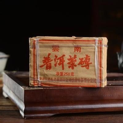 1000克,2002年中茶宫延古树熟茶砖