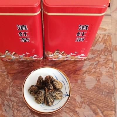 特级滇红茶凤庆红茶手工宝塔早春荒山茶500克筒装