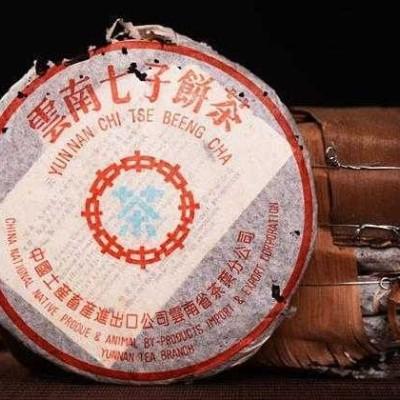 357克,2002年中茶水蓝印7542老生茶