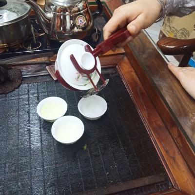 功夫茶盖碗夹具冲茶器带过滤泡茶神器茶具配件