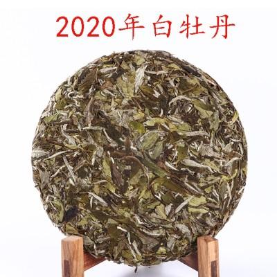 厂家直销福鼎白茶2020年头春高山纯日晒白牡丹茶饼350克新茶批发