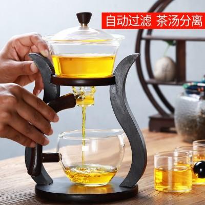 玻璃半全自动泡茶器茶壶杯懒人宫灯网红功夫茶具套装家用泡茶神器