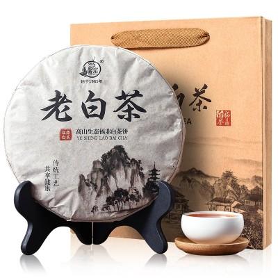 老白茶茶饼装5年老白茶正宗福建福鼎寿眉茶叶老白350g一饼