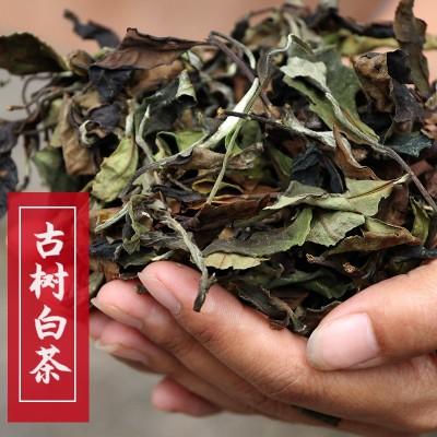 云南古树月光白茶2019头春礼盒包装300克白茶自产自销古树白茶