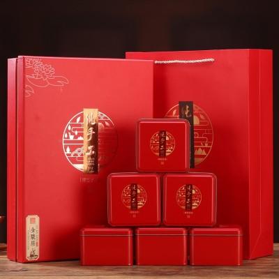 送礼物武夷山金骏眉茶叶红茶特级金俊眉新茶高档红色结婚礼品盒装