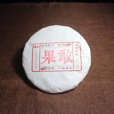 1饼357克,2017年春果敢古树纯料生茶