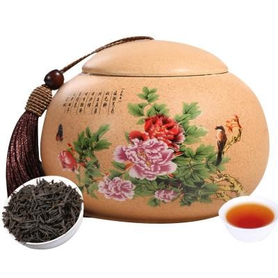 郎品新茶大红袍茶叶陶瓷罐装100g配礼袋