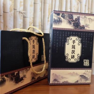 黑茶2017黑金花茯砖茶1kg安化黑茶1000g原叶茯茶砖华莱黑茶