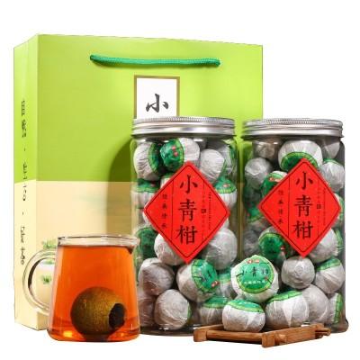 新会小青柑陈皮宫廷普洱茶500g散装熟茶罐装茶叶