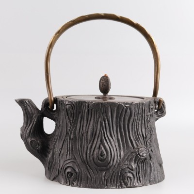 手工蜡模鎏金铁壶尺寸:D17.5×H20容量:1100ml