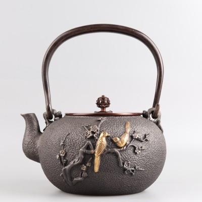 手工蜡模鎏金铁壶尺寸:D17.5×H21.5容量1200ml