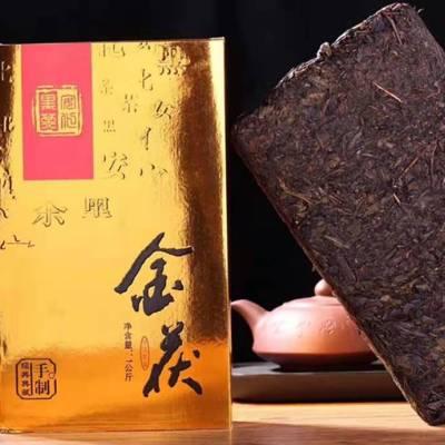 正宗安化黑茶2008年金茯茯砖茶金花黑茶1kg 包邮