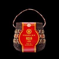 中茶黑茶六堡茶2020年广西梧州窖藏8218陈年散茶500g箩装中粮茶