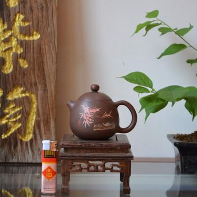 云南建水紫陶 名家大师 李剑鑫 纯手茶具 龙蛋茶壶 容量180毫升
