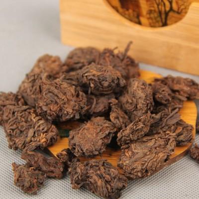 普洱熟茶05年陈年金芽 老茶头 自然沱勐海熟茶250g包邮