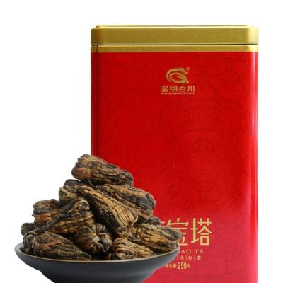 2021年春茶云南滇红茶特级浓香型凤庆红茶茶叶 手工宝塔250克罐装
