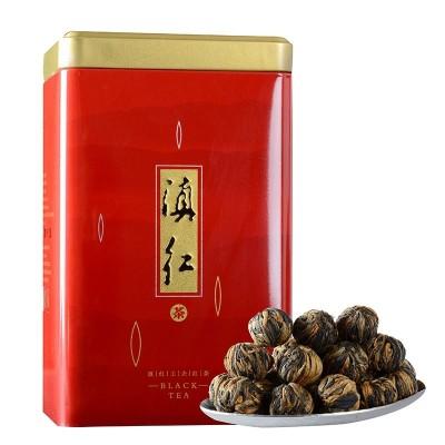 2021年春茶云南凤庆滇红茶特级手工龙珠茶叶 红绣球散装250克方便