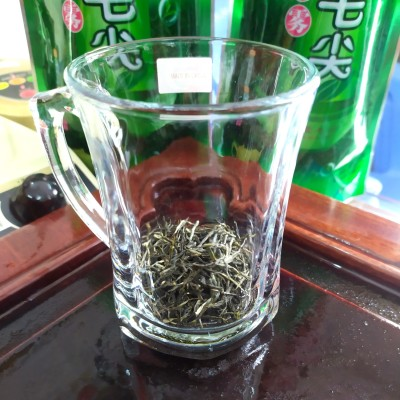 信阳毛尖绿茶高山茶叶云雾毛尖直条绿茶茶叶新茶白毫毛尖茶叶心1斤分2袋