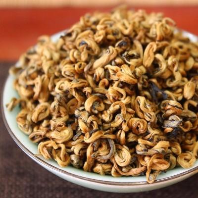 滇红金螺滇红茶 特级云南凤庆古树红茶茶叶散装 蜜香红金螺500克