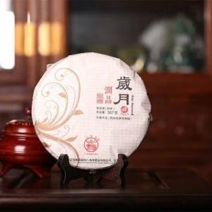【八角亭】2018年岁月润品普洱熟茶357克/片