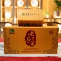 八角亭2021年普洱老茶头熟茶,400克/盒