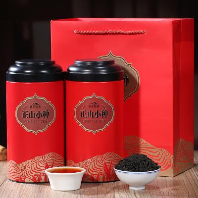 正山小种红茶茶叶一级浓香型红礼盒装罐装标友2021新茶新茶500克