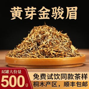 武夷山桐木关金骏眉红茶茶叶特级正宗黄芽蜜香浓香型金俊眉500g