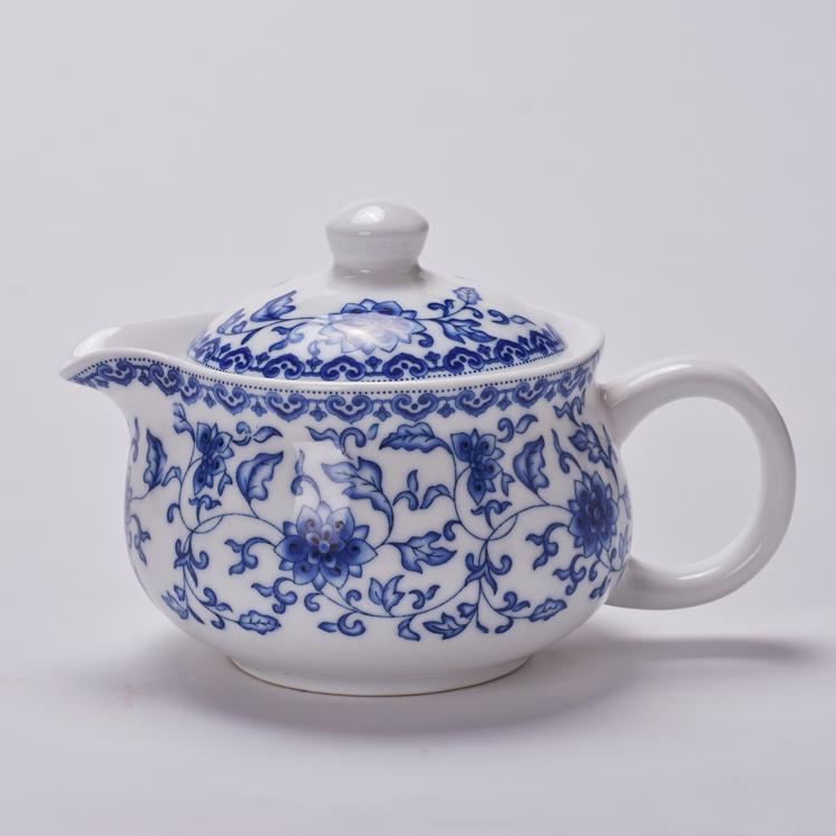茶具礼品套装开业促销陶瓷快客杯茶壶青花茶杯日式和风手绘8件套