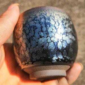 精品原矿釉建盏手握杯
