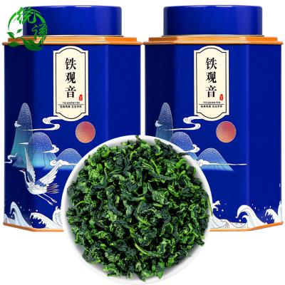 2021新茶铁观音茶叶兰花香春茶浓香型高山绿茶叶安溪乌龙茶罐装