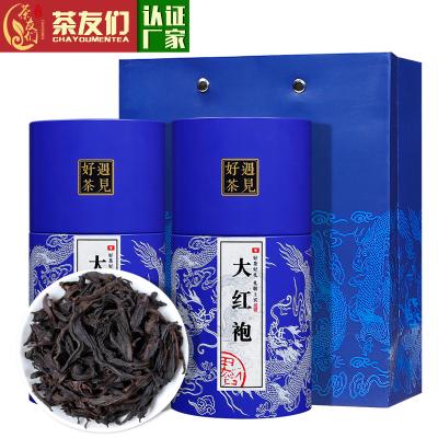 大红袍茶叶400g礼盒装武夷岩茶送礼散装武夷山岩茶肉桂罐装