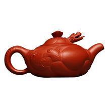 宜兴紫砂壶 原矿清水泥鱼化龙茶壶手工精制 古典茶具