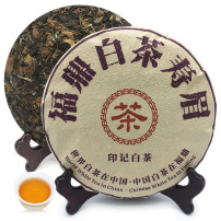 2016年福鼎白茶寿眉饼老白茶高山老寿眉印记白茶