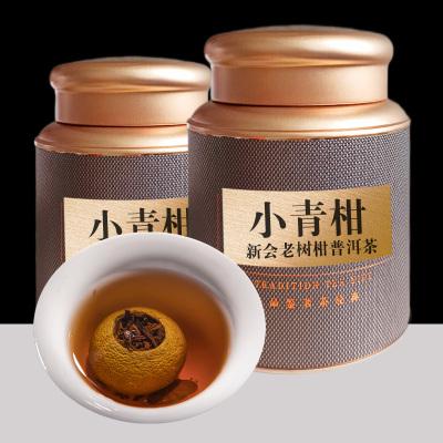 新会老树小青柑宫廷普洱茶陈年熟普茶沱正宗柑普茶叶300克礼罐装