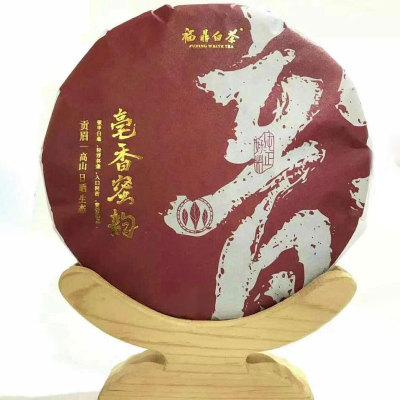 2019年福鼎白茶高山寿眉饼茶花果香寿眉饼茶