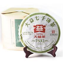 2016年大益1601批次7532雪印普洱生茶357克勐海茶厂七子饼