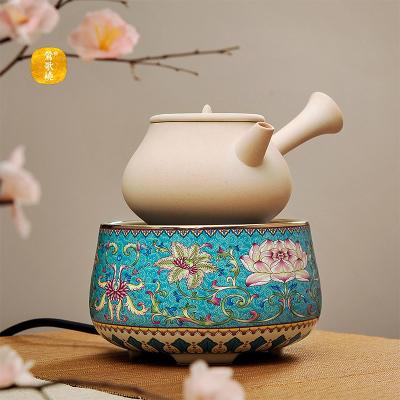 莺歌烧电陶炉煮茶家用茶炉台式小型泡茶炉铁壶银壶珐琅彩电陶炉