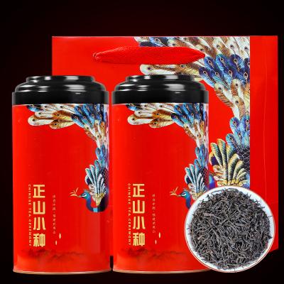 正山小种红茶茶叶礼盒装罐装新茶浓香型共500g送手提袋红茶批发