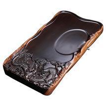 整块黑檀木平板茶盘 原木实木整块茶台特价