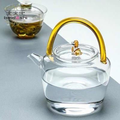 北大史耐热玻璃茶壶单壶玻璃壶耐高温大号烧水壶大容量家用煮茶壶