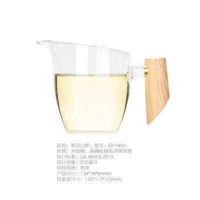 奇高chikao新款日式侧把公道杯加厚手工耐热玻璃分茶器功夫茶具