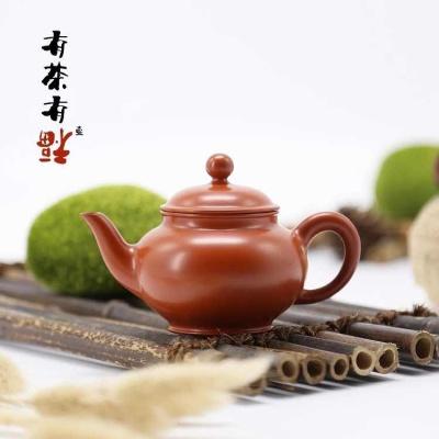 荣记大红袍手拉壶 潮州手拉壶名家 池松荣 全手工传统潮州壶