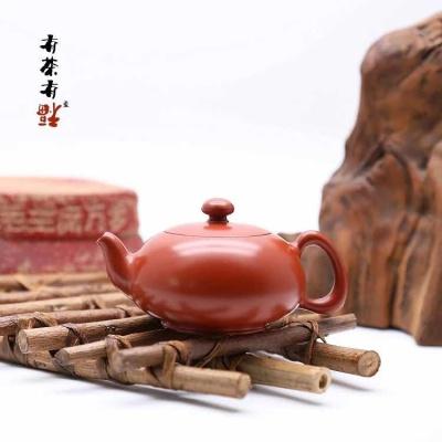 荣记大红袍手拉壶 潮州手拉壶名家 池松荣 全手工传统潮州壶 龟壶