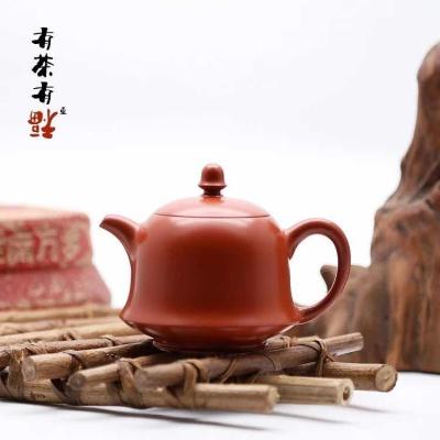 荣记大红袍手拉壶 潮州手拉壶名家 池松荣 全手工传统潮州壶 金钟