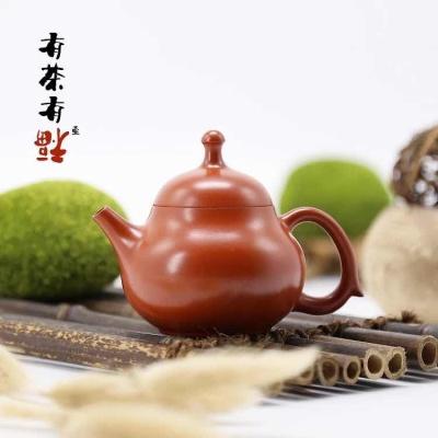 荣记大红袍手拉壶 潮州手拉壶名家 池松荣 全手工传统潮州壶 瓜壶