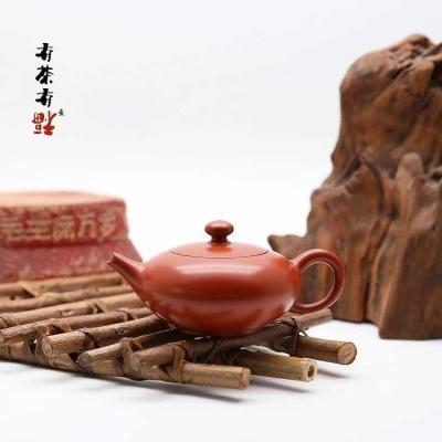 荣记大红袍手拉壶 潮州制壶名家 池松荣 全手工传统潮州壶 鸭嘴壶