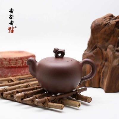 谢华大师 吴义永 马上封侯限量编号 紫泥手拉壶 纯全手工潮州茶壶